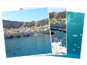 Sailing Greek islands - Greece charter sailing holidays - The Fortress of Monemvasia Peloponnese