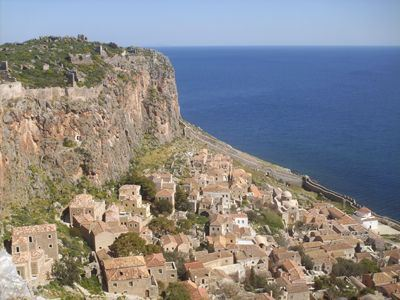Sailing Greek islands - Greece charter sailing holidays - Monemvasia castle sightseeing