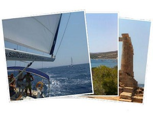 Sailing Greek islands - Greece charter sailing holidays - Posseidon's Temple at Cape Sounio