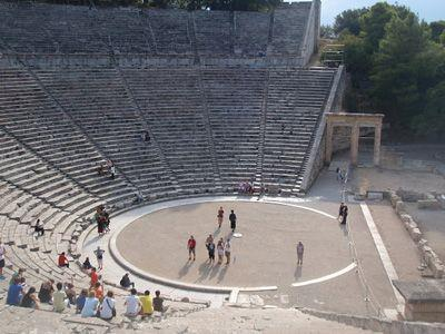 Sailing Greek islands - Greece charter sailing holidays - Sightseeing and Archeology - The theater of Epidaurus (Epidaurus)