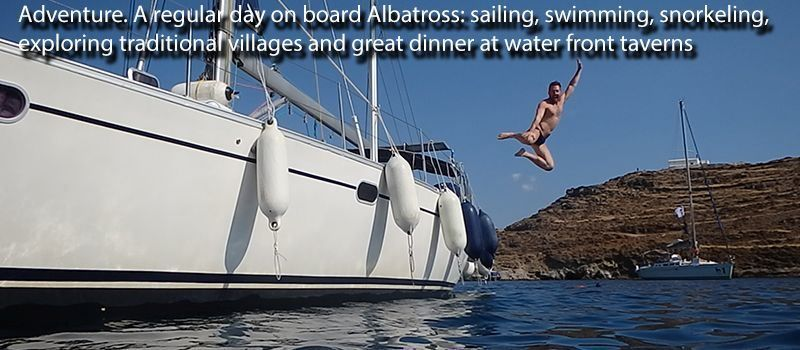 adventure sailing in greece with skipper rent a boat