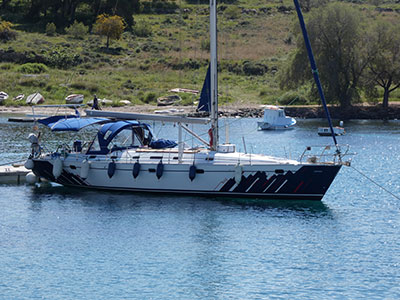 Sailing Greek islands - Greece charter sailing holidays - Your Yacht - saloon view towards stern (two double cabins)