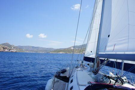 Sailing Greek islands sailing to islands