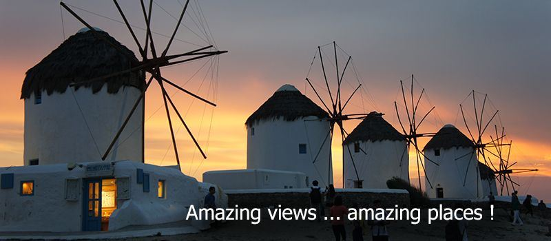sailing greece sailing mykonos sunset windmills