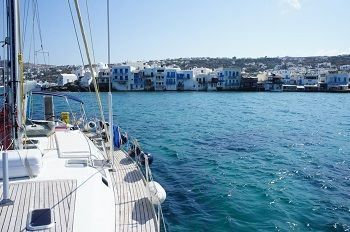 Greece charter sailing holidays - sailboat small venice mykonos