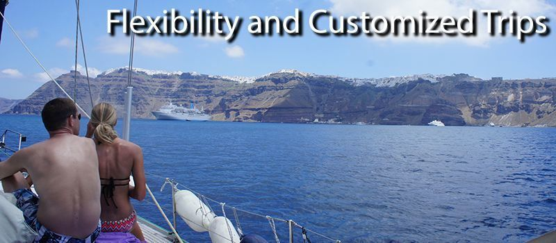 flexibility on sailboat sailing holidays with skipper greece - sailing greece