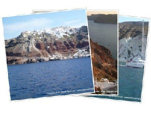 Sailing Greek islands - Greece charter sailing holidays - Santorini island Cyclades